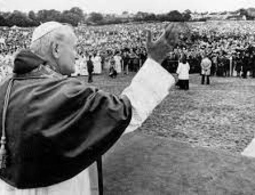 Pope John Paul II at Clonmacnoise, writes Michael Dalton, Offaly Branch